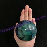 MeldedMind Natural Green Blue Purple Fluorite Sphere 73mm Crystal Energy Healing 036