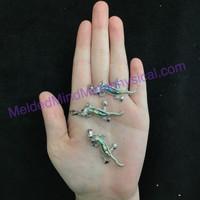 MeldedMind One (1) Abalone Shell Lizard Pendant 37mm Metaphysical Spiritual Healing 230