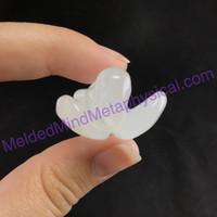 MeldedMind Polished White Clear Quartz Angel 49mm Home Decor 620