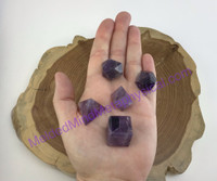 MeldedMind537 One (1) Amethyst Sacred Geometric Shapes Set  Fire Earth Air Water Universe