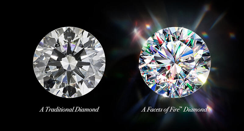 Diamond With and Without Fire