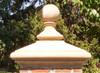 Custom pyramidal peaked pier. pillar or column cap with ball finial.