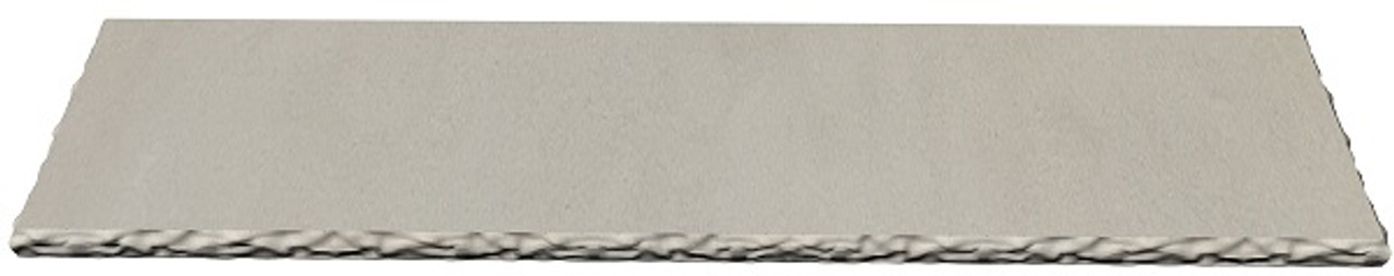 Premium buff limestone fireplace hearth; chiseled edges;  made to your size and shape.