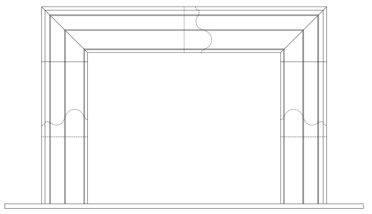 McLean fireplace surround front CAD