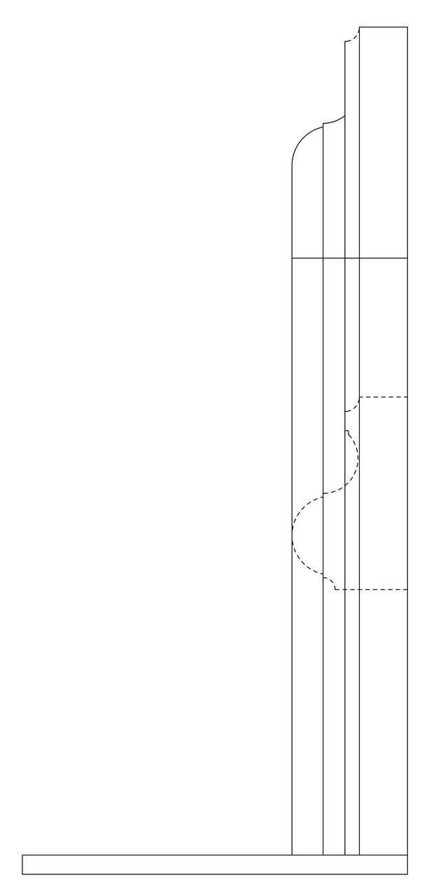 McLean fireplace surround CAD side view