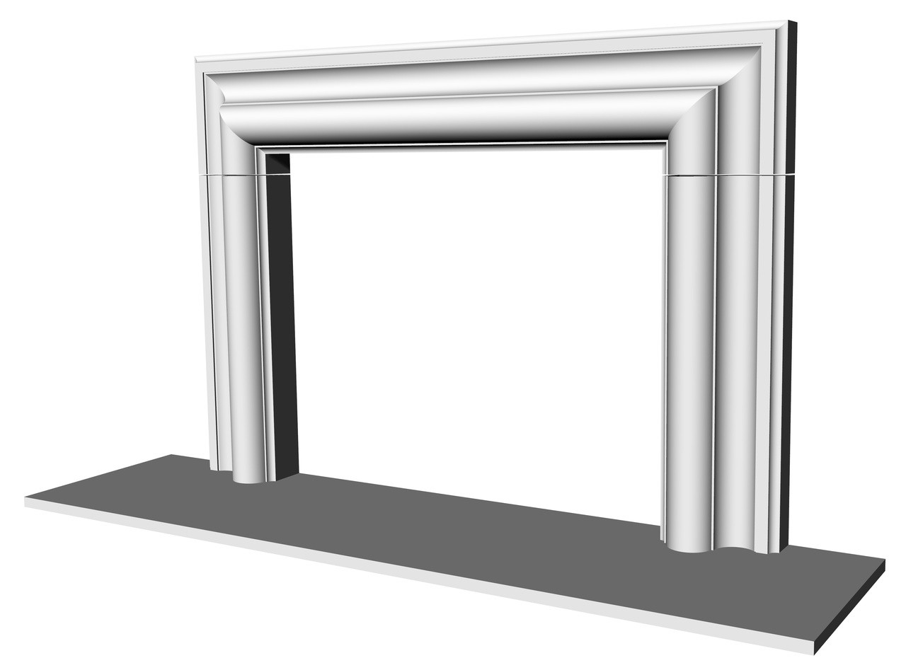 McLean fireplace surround CAD render