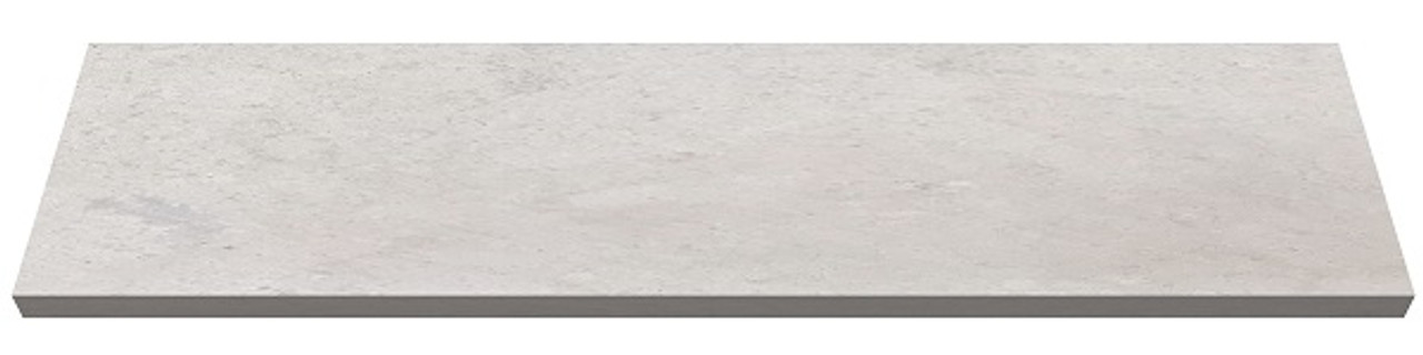Bulgaria cream limestone fireplace hearth pad - one piece slab