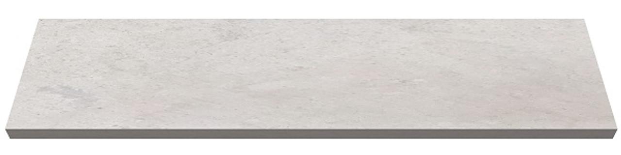 Bulgaria cream limestone fireplace hearth pad - one piece slab
