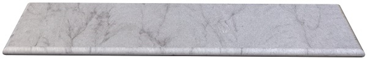 Amherst Gray Sandstone fireplace hearth with bull nose edges