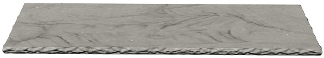 Amherst Gray Sandstone fireplace hearth with chiseled edges