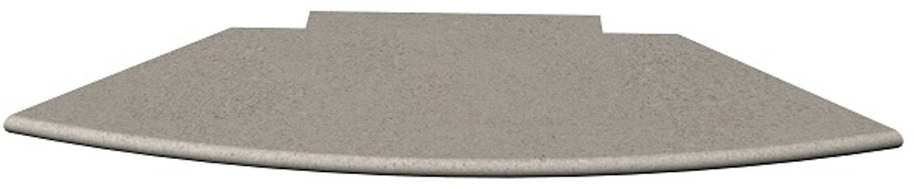 Custom Indiana buff limestone fireplace hearth slab; available in honed, sandblasted and other finishes; natural stone; made in the USA; hearth pad; one piece