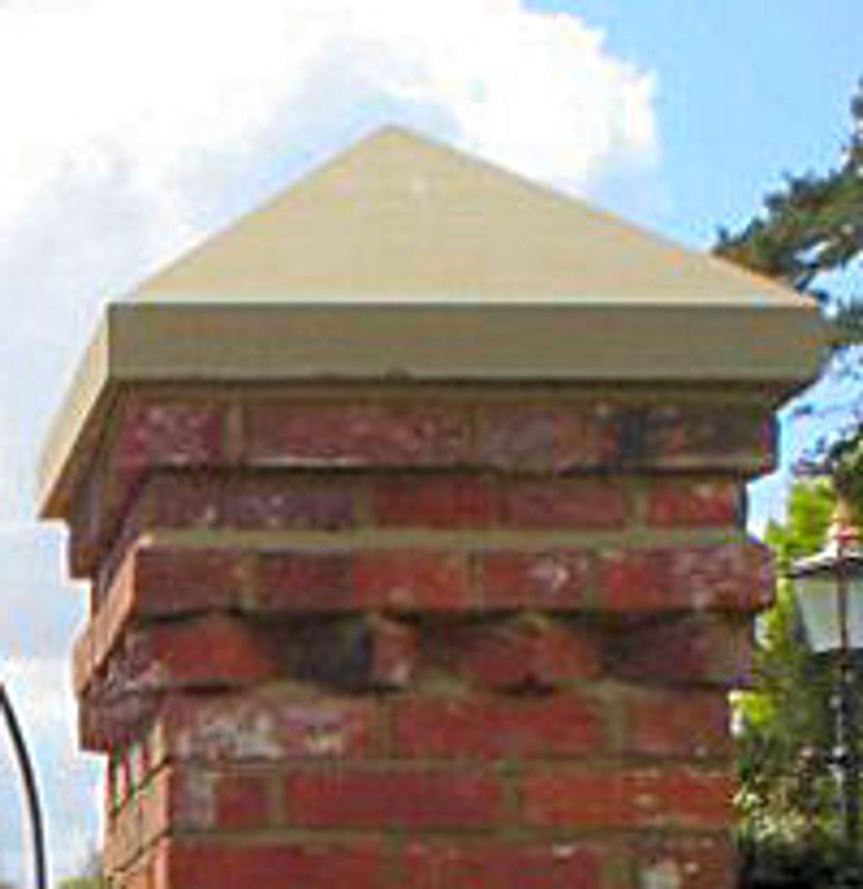 Custom pyramidal peaked pier. pillar or column cap.
