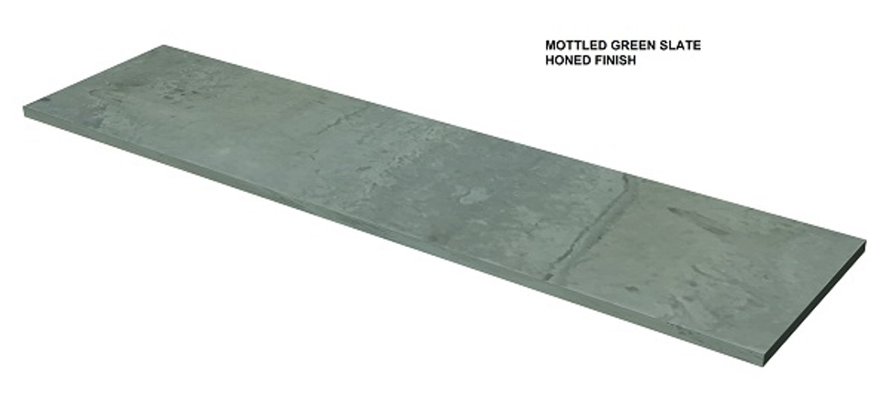 Mottled Green slate fireplace hearth, shipped nationwide, made to order. Slab G01