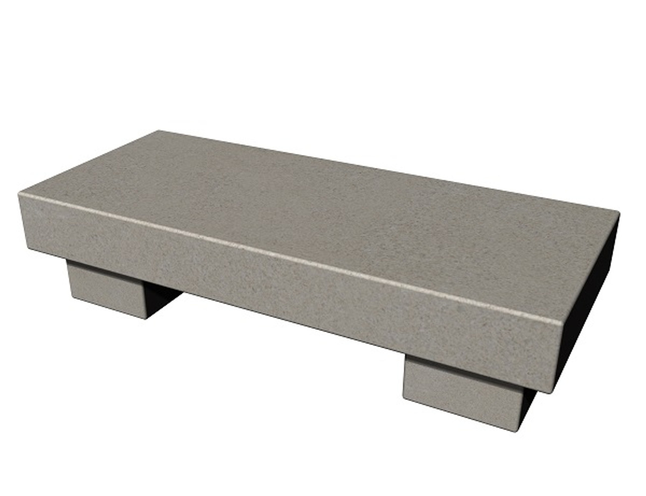 The Zen Bench in honed Standard buff limestone, standard and customer size, available in many different natural stone colors, made to order in the USA and shipped nationwide.
