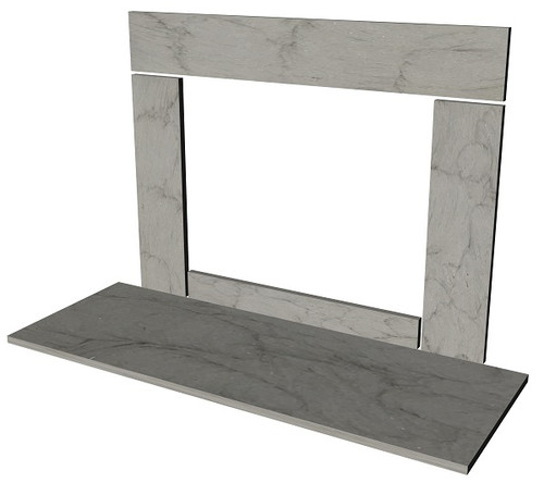 Stone fireplace surround facing kit and hearth available in any size, slate, limestone, marble, bluestone, sandstone, travertine, granite and marble.
