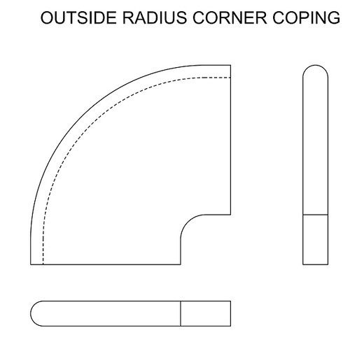 Outside Radius Corner Coping