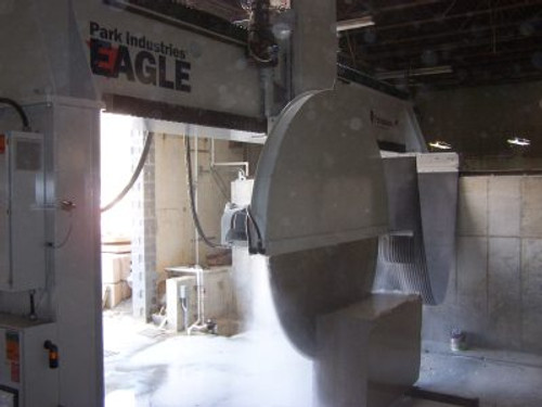 Easy Stone Center Stone Fabrication  - bridge saw