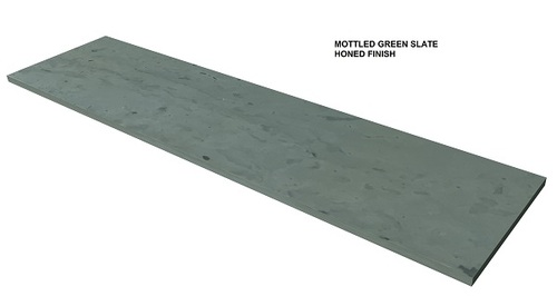Mottled Green slate fireplace hearth, shipped nationwide, made to order.
