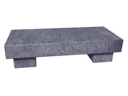The Zen Bench in thermal Kilkenny limestone, standard and customer size, available in many different natural stone colors, made to order in the USA and shipped nationwide.