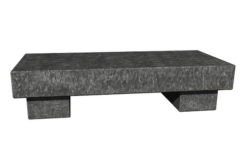 The Zen Bench in thermal American black granite, standard and customer size, available in many different natural stone colors, made to order in the USA and shipped nationwide.