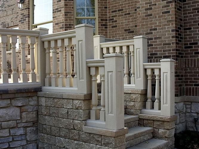 Custom natural stone balustrade