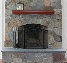 Custom Stone Fireplace Hearths: Limestone, bluestone, sandstone, marble, granite