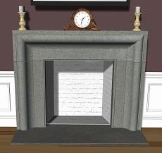 Custom stone fireplace surrounds: Limestone, bluestone, sandstone, marble, granite