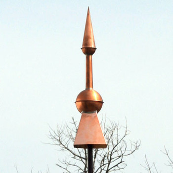 Copper Rooftop Finial