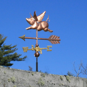 Flying Pig Weathervane 550