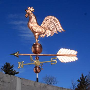 Crowing Rooster Weathervane