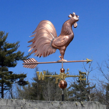 Large Triple Tail Rooster Weathervane