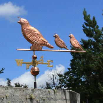 quail weathervane