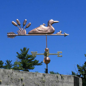 loon and chicks weathervane