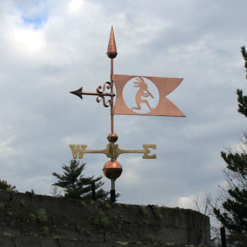 kokepelli banner weathervane