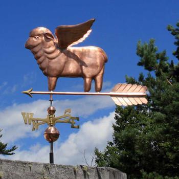 flying sheep weathervane