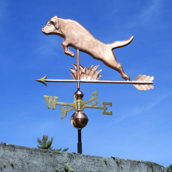 jumping labrador weathervane