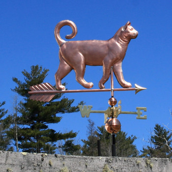curly tail cat weathervane