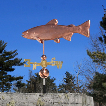 brook trout weathervane