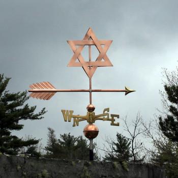 Star of David Weathervane 529