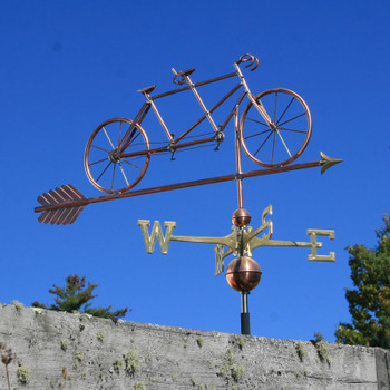 tandem bicycle weathervane