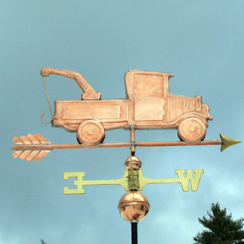Copper Tow Truck Weathervane 260