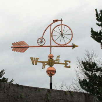 High Wheel Bicycle Weathervane
