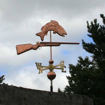 sportsman weathervane