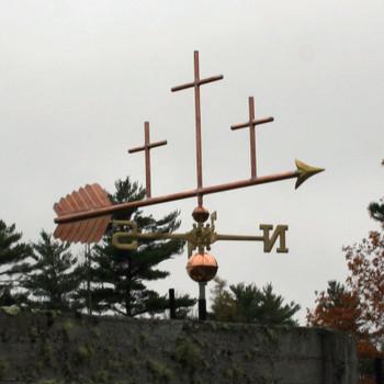 Three Crosses Weathervane 695