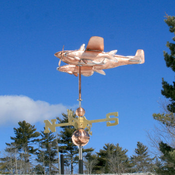 Southern Fighter Airplane Weathervane