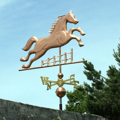 Horse Jumping a Fence Weathervane