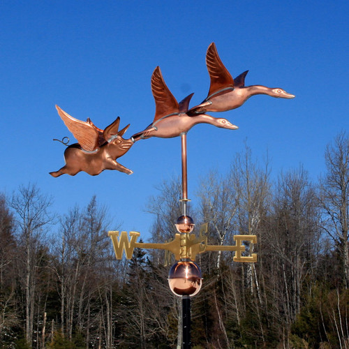 Two Geese and Flying Pig Weathervane