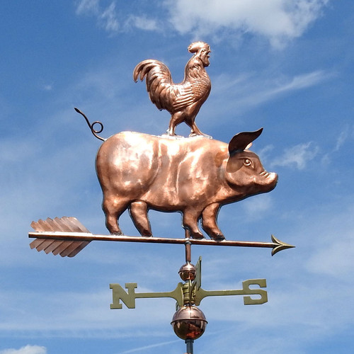 Pig and Rooster Weathervane