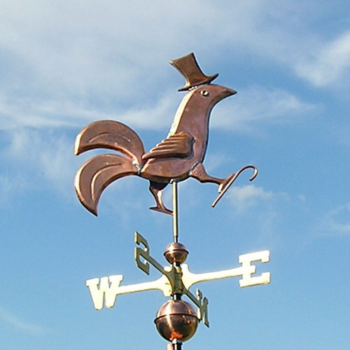 Rooster with Top Hat Weathervane
