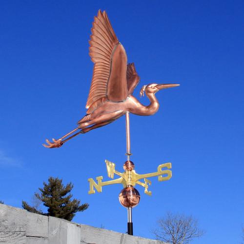 heron weathervane right side